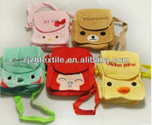 stuffed animal plush bad/ fashion animal plush bag for kids