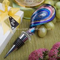 Swirl Design drop wine bottle stopper