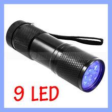 Slim 395-400nm UV Torch 9 LED Flashlight