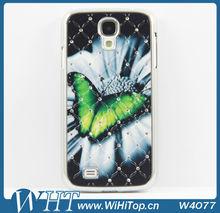 For Samsung Galaxy S4 Mini i9190 Diamond Star Case Chrome Hard Cover Skin.Diamond Heart/Butterfly /Tower/Beard For Choice