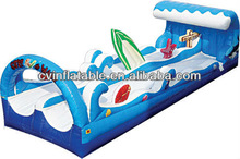 surf inflatable slip and slide/inflatable bouncer slide/inflatable dry slide