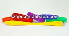 Promotional gift wristband bracelet usb flash drives 4gb