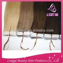 wholesale tape remy hair weft european skin hair weft