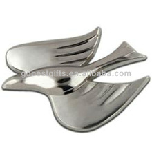 3D Dove metal lapel Pin Badge for promotional item