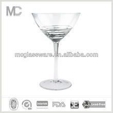 Handmade clear martini