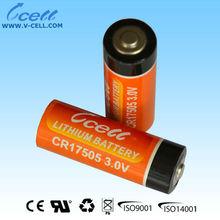 A 2400mAh CR17505E 3 volt battery