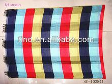 fashion plaid silk 100% rayon square viscose scarf shawl
