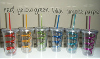 12oz 16oz 22oz double wall acrylic tumbler with straw wholesale