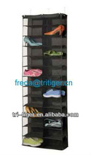 Jinan Tri-Tiger 26 Pocket Over the Door Organizer - Black Polyester