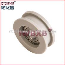 Low noise aluminum window & door pulley with bearing (manufacturers)