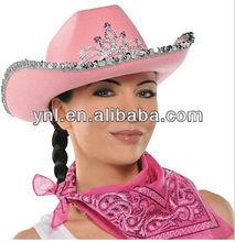 Pink Rhinestone Cowgirl / Cowboy Hat