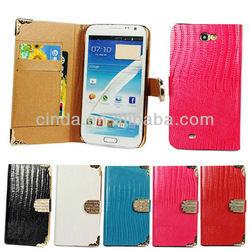 Luxury Diamond Wallet Leather Cover Case For Samsung Galaxy Note II 2 N7100