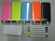 new highlighter ballpen set&promotional pen set CH6258