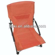 outdoor lightweight camp sand relaxer orange armchair