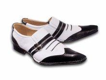 TRIAMO SHOES, shoes for men, Model: ONAN BLANCO-NEGRO
