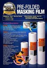 Prefolded masking film