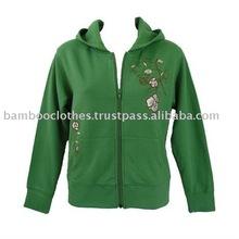 Women's Embroidered Hoodie Varsity Jacket