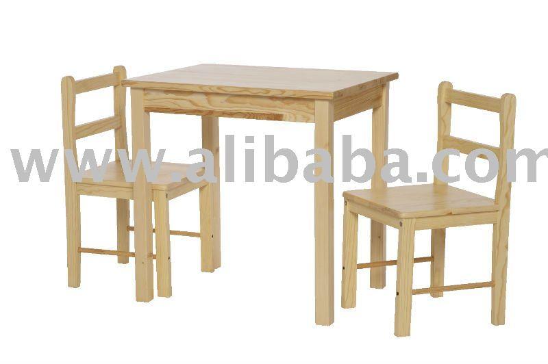 De los ni os de mesa de madera maciza y sillas los dem s - Mesas ninos madera ...