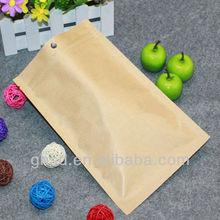 unbleached kraft paper bag / zip lock paper pouch / plastic lined paper bags