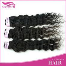 100% Brazilian human wavy extension hair bulk black&dark brown high quality virgin hair 3pcs/lot