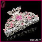 Fashion diamante hair jewelry, red rhinestone hair claw for long hair