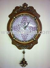 Wooden Luxury pendulum Wall Clock