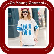 2012 best selling high quality dress casual women beach clothing fashion plain cheap cotton jersey singlet girls lady t shirt