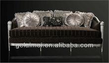silver leaf three seater sofa for hotel lobby