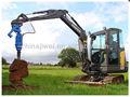 Ground furo verruma de terra para escavadeiras 4.5t a 8t