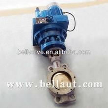 Triple eccentric Metallic hard seal Motorized butterfly valve Stainless steel