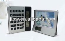 Multifunction Calculator With Photo Frame And Calendar Clock