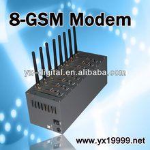 8-port gsm modem for send and receive bulk sms tc35 gsm modem