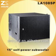 "HOT!!! 15"" line array active subwoofer self-power bass speaker"
