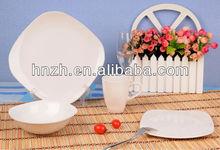 Popular 16PCS Square solid color glazed stoneware dinnerware /indian dinner sets