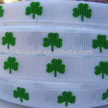"""3/8"""" Saint Patrick's Day Grosgrain Ribbon Custom Printed Grosgrain Ribbon"""