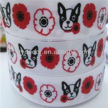 """7/8"""" Dog Grosgrain Ribbon Custom Printed Grosgrain Ribbon"""