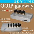 Fácil de teléfono de voip gateway/voip gsm de terminación/mejor venta goip 16