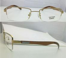 Hot selling Titanium half rimless eyeglasses frames carbo legs