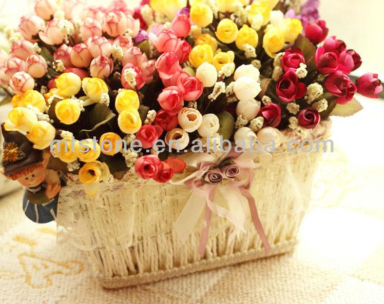 2013 heißer verkauf mini künstliche blume seide, mini rose, hochzeit blume