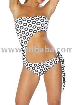 Black Bubbe Strapless Monokini Swimwear