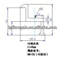 Aluminium solar panel Clamp/ CNC Machine