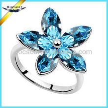3 carati stella a forma di diamante anello di fidanzamento