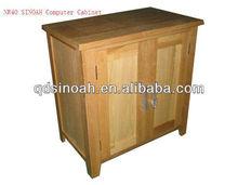 solid oak 2 door computer cabinets/wooden cabinets