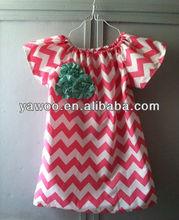 2013 Wholesale Fashion new chevron short sleeve T-shirt Children's clothing baby clothes