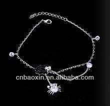 wholesale Fashion 2013 fancy alloy charm bracelets for young women