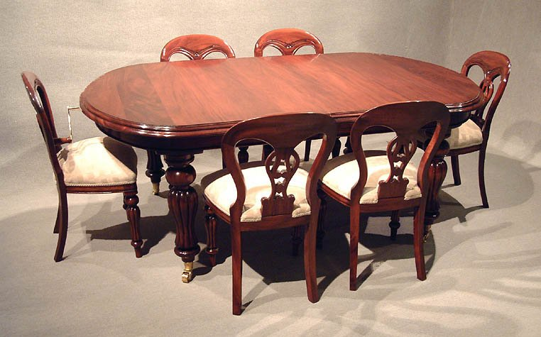dend dining sets mahogany reproduction
