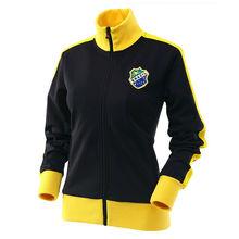 Ladies Brazil Football Team Jacket/OEM Serive Sports Jackets