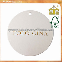 round/circle hang tag with hole for clothing in Guangzhou