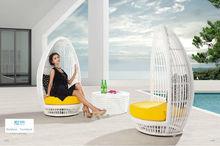 MYX12-846 Black PE Rattan rattan coffee table and chair