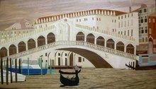 Marquetry picture - Rialto Bridge Venice